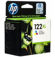 Картридж HP No.122XL Color (CH564HE) ОРИГИНАЛ! DeskJet 1000, 1010, 1050, 1050A, 1510, 2000, 2050, 2050A, 2054A, 3000, 3050, 3050A, 3052, 3054, 4640, OfficeJet 4630. Ресурс до 330 стр. Малайзия