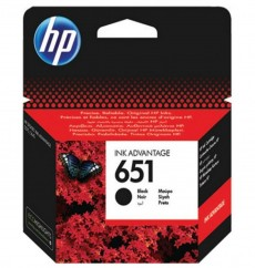 Картридж HP No.651 Black (C2P10AE) ОРИГИНАЛ. Ресурс до 600 стр. HP DJ Ink Advantage 5575, 5645, OfficeJet 202, OfficeJet 252