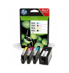 Набор картриджей HP 903XL 4-pack High Yield Black/Cyan/Magenta/Yellow (3HZ51AE) ОРИГИНАЛ! OfficeJet 6950, OfficeJet Pro 6960, 6970. Ресурс до 825 стр.