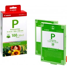 Комплект для SELPHY ES-принтеров Canon Easy Photo Pack E-P100 (1335B001), 100 листов (Selphy ES1, ES2, ES20, ES3, ES30, ES40) Япония
