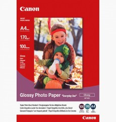 "Фотобумага Canon Photo Paper Glossy ""Everyday Use"" GP-501, глянцевая, A4, 170 г/м2, 100 листов (0775B001) Германия"