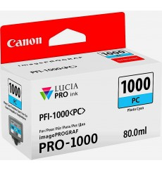 Чернильница Canon PFI-1000PC Photo Cyan LUCIA PRO (0550C001, 0550C002), ОРИГИНАЛ, imagePROGRAF PRO-1000. 80 мл. Япония