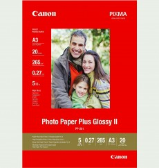Фотобумага Canon Photo Paper Plus Glossy II PP-201, глянцевая, A3, 265 г/м2, 20 листов (2311B020) Германия