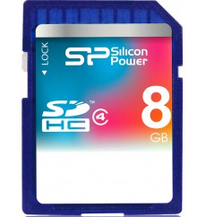 Карта памяти Silicon Power SDHC 8 GB Class 4 (SP008GBSDH004V10)